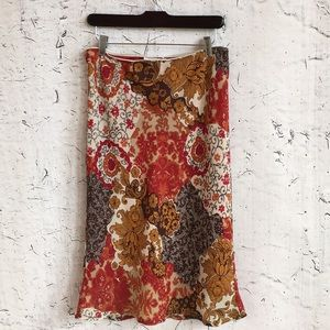 XOXO RED FLORAL SKIRT